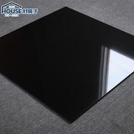 纯黑色亮光800x800瓷砖全抛釉通体抛光砖600x600白色客厅卧室地砖图片
