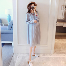 Pregnant women dress spring and autumn 2019 new fashion loose long shirt shirt bottoming maternity dress spring shirt