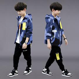 男童秋装套装2020新款中大童帅气男孩春秋季儿童迷彩两件套韩版潮