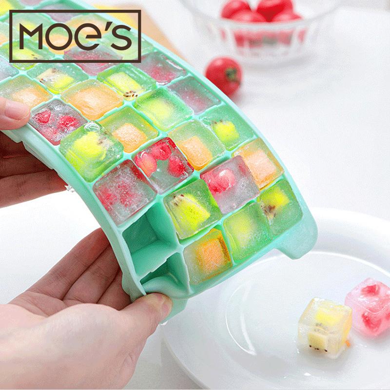 (用22.8元券)厨房家用冰格36格冰格制冰盒冻冰块模具硅胶冰格 婴儿宝宝辅食盒