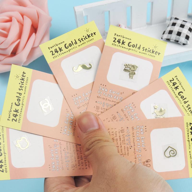 包邮卡通手机防辐射贴纸10张 电脑手机可爱装饰贴遮瑕贴孕妇金属