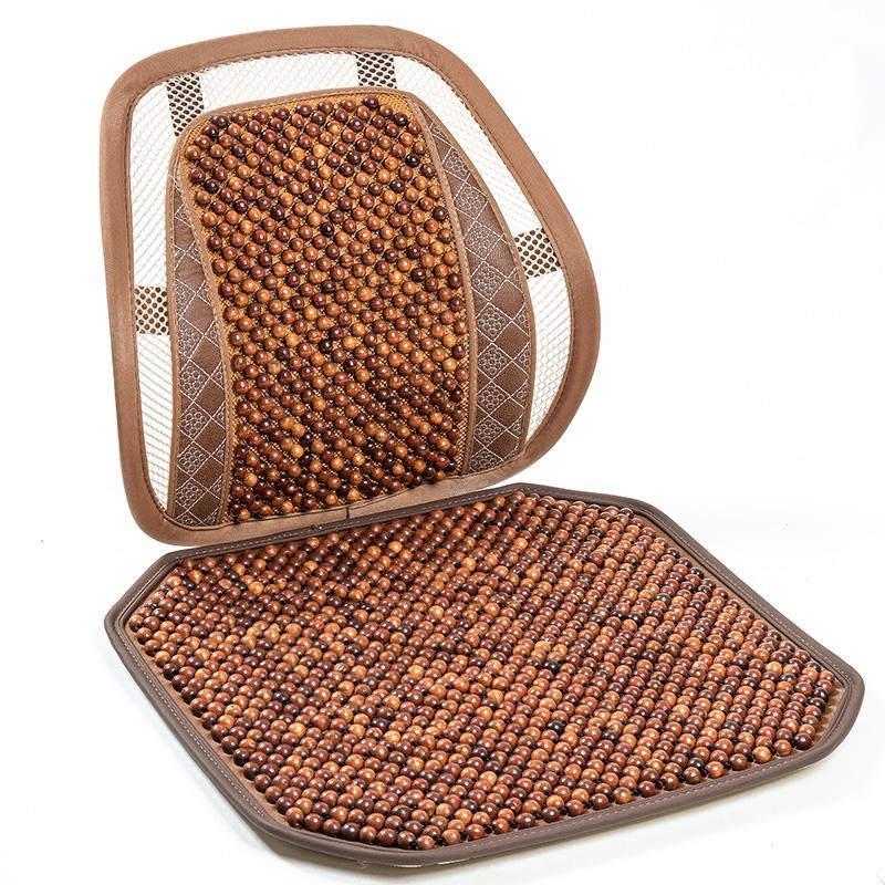 汽車腰靠護腰靠墊 透氣木珠按摩車用腰托腰枕辦公室腰墊靠背墊