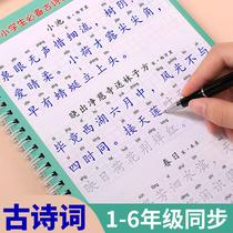小学生古诗词字帖贴1-6年级练字帖本神器楷书速成21天2-3-4儿童每日一练练字凹槽一四五六年级初学者硬笔书法