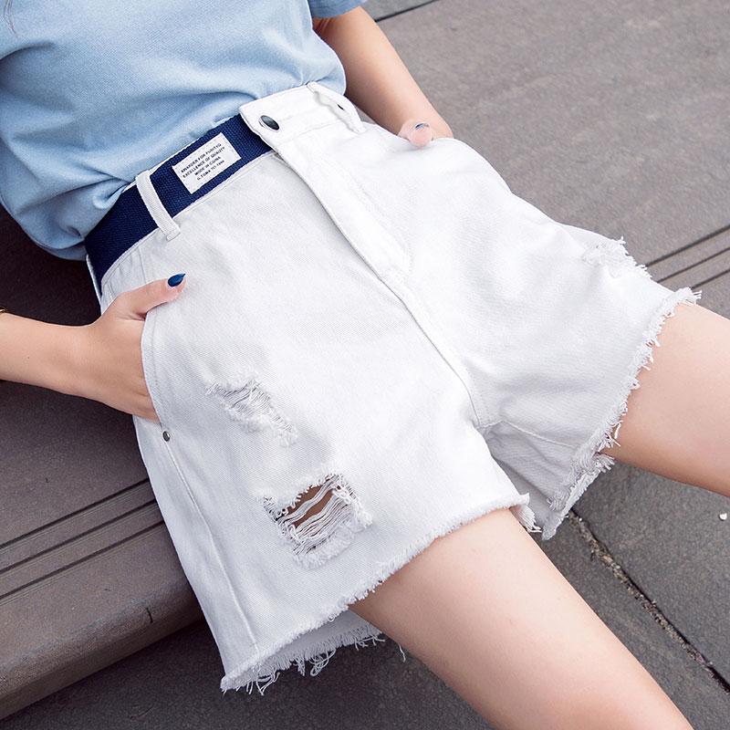 女式夏季白色短裤网店地址