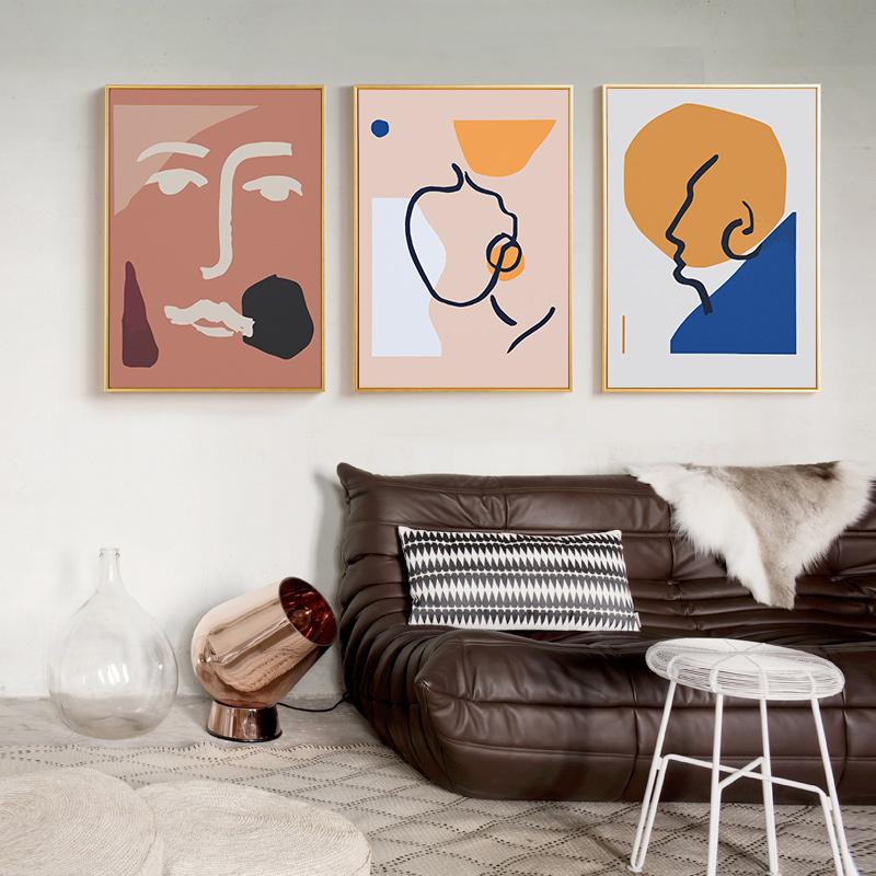12-12新券北欧客厅装饰画沙发背景墙画现代简约餐厅卧室床头壁画三联挂画
