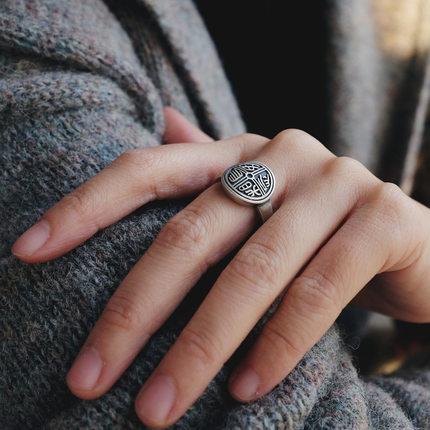 勿忘纯银饰品三生三世民族风戒指