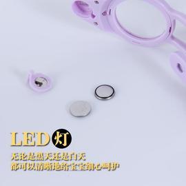 婴儿指甲剪带灯父母迷你灯光led安全开口可用指甲钳全套放大镜图片