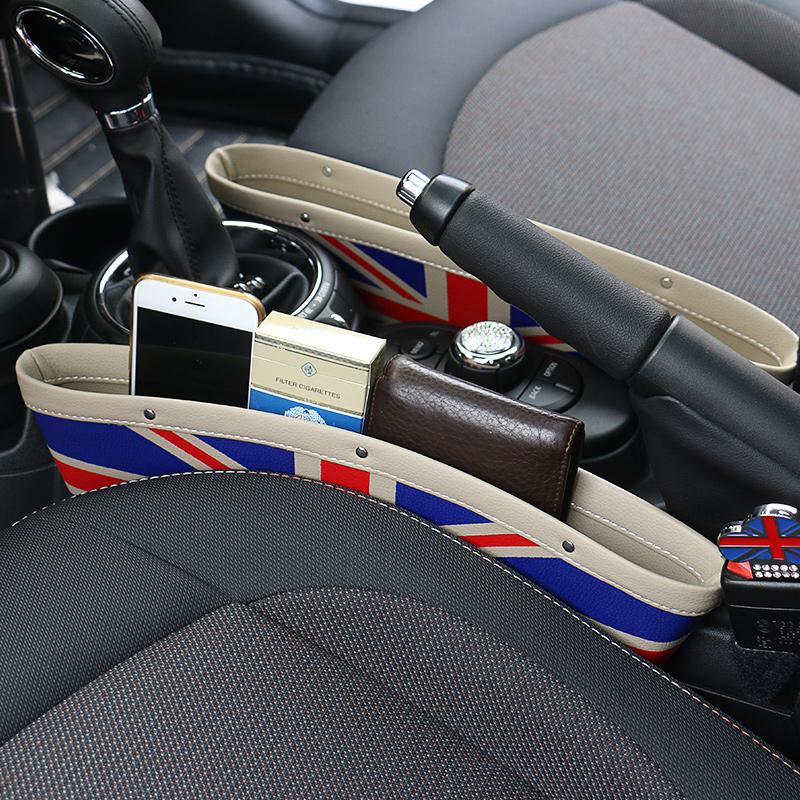 寶馬迷你mini儲物盒 米字旗座椅縫隙收納盒 車載車用置物箱雜物盒
