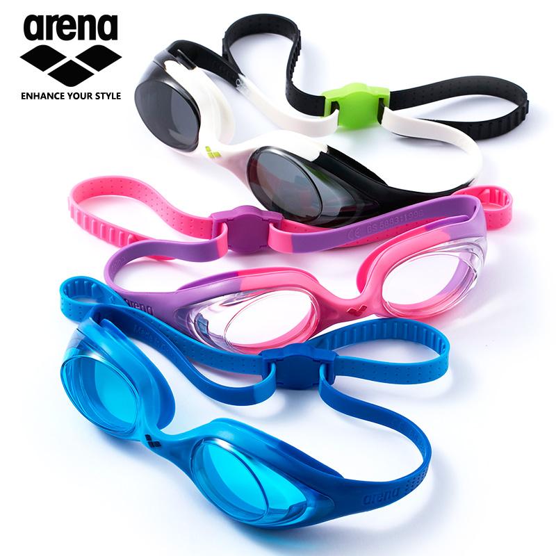 ARENA阿瑞娜兒童泳鏡高清防霧男童女童泳帽套裝舒適不箍頭游泳鏡
