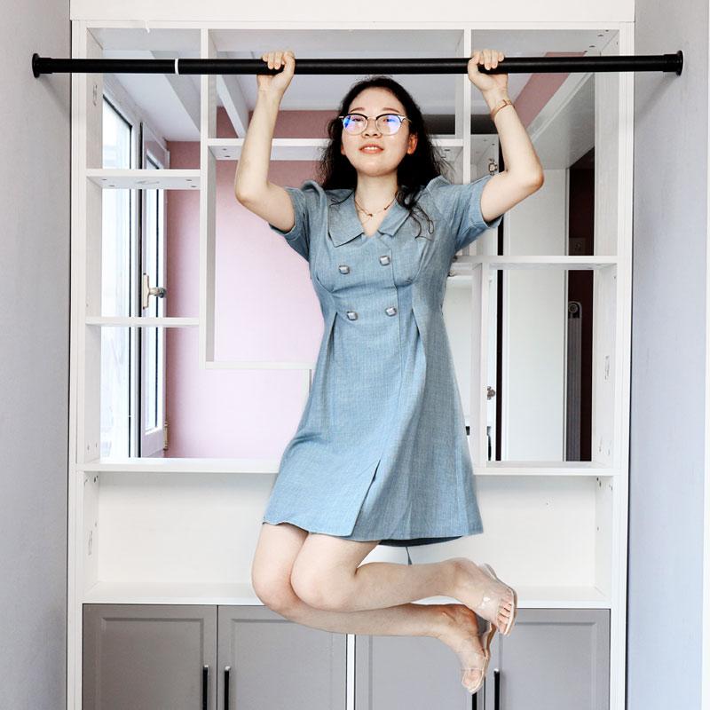 免打孔窗帘杆晾衣杆阳台伸缩杆杆