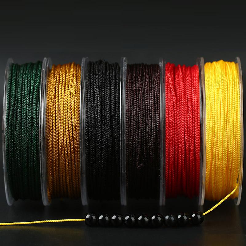 文玩线穿星月菩提珠子的绳子佛珠