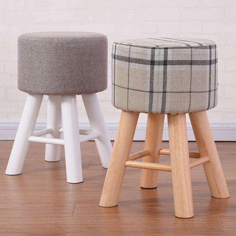 实木小凳子家用时尚简约梳妆凳圆凳学习书桌凳餐凳餐桌凳创意矮凳