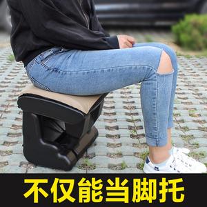 汽车腿托副驾驶座椅改装后排睡觉神器腿部加长商务车载搁脚凳子