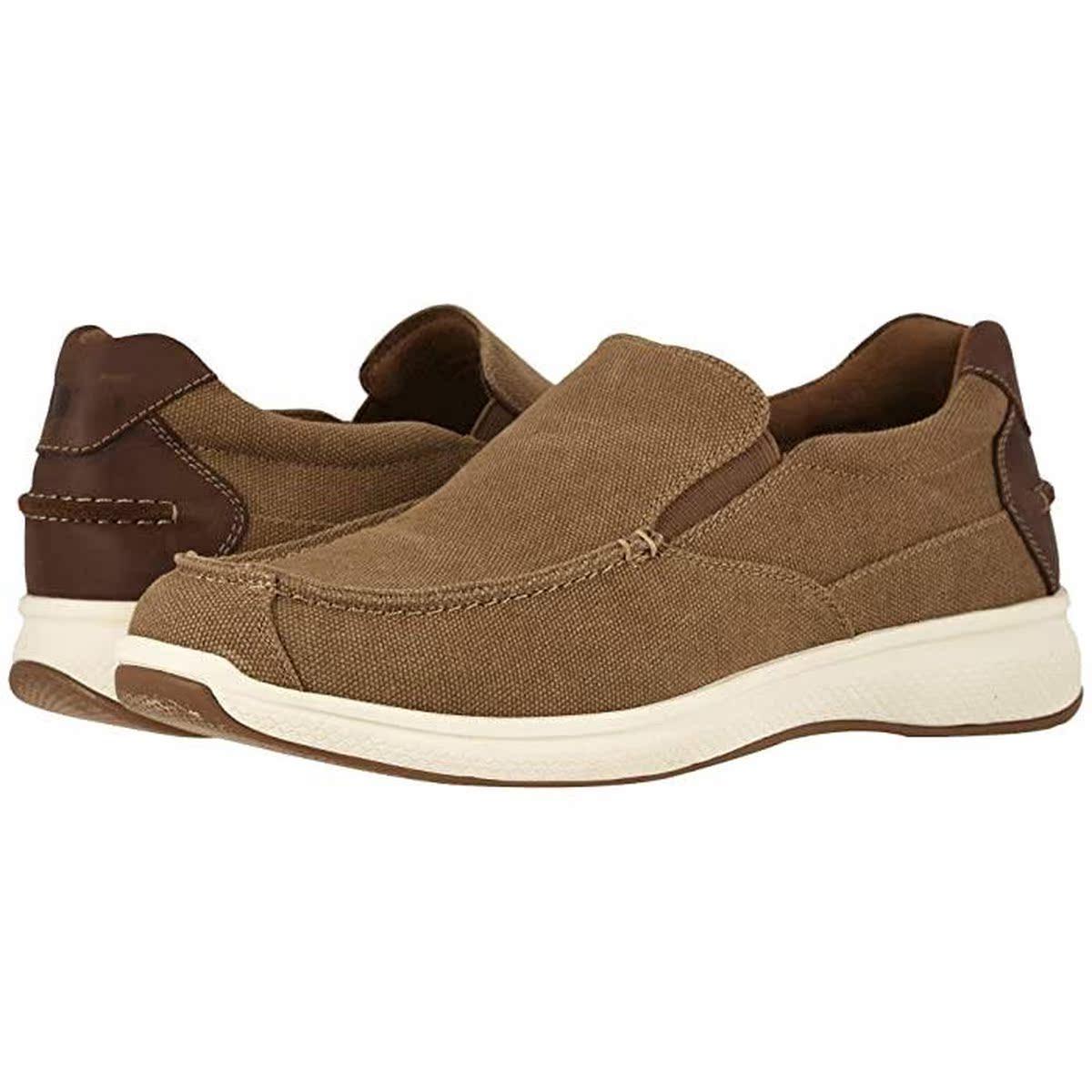 代购Florsheim Great Lakes 帆布搭线便鞋男2021新款奢侈品老爹鞋