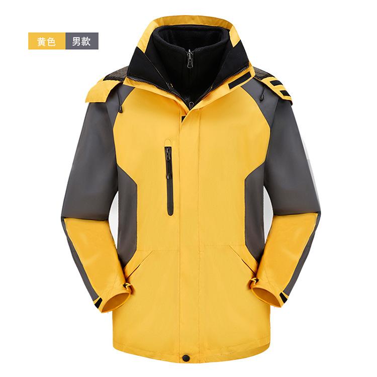 定制户外服装男款两件套冲锋衣防水保暖防寒工作服 光板现货
