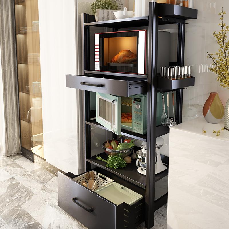 厨房落地多层微波炉置物架子烤箱