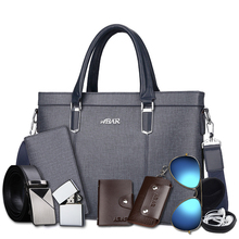 Abar handbag men's briefcase business men's bag hand-held shoulder Messenger bag casual computer official bag