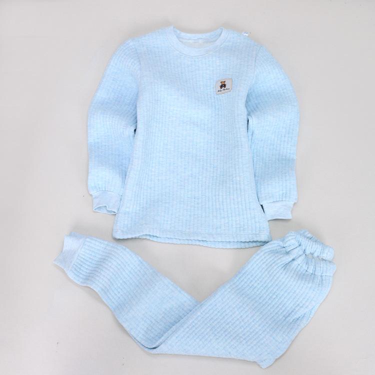 新款儿童保暖内衣套装中童精梳棉莱卡秋冬保暖弹力高档款
