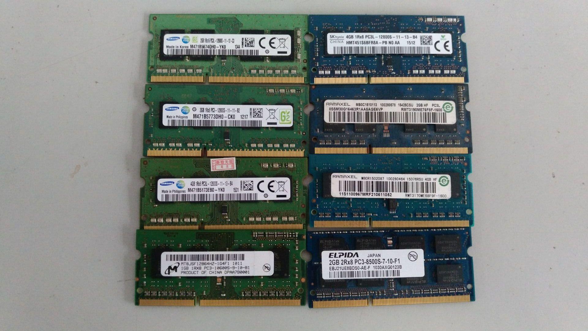 拆机笔记本内存二手 台式机内存 DDR3 2g 4g 8g DDR4-4G  内存条