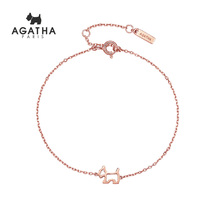 Agatha 925 silver openwork puppy simple temperament jewelry girl lovers gift BRACELET WOMEN 2019 new trend