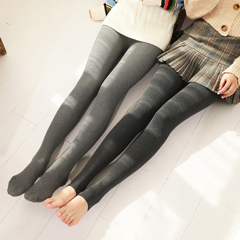 Autumn and winter Plush thickened womens pantyhose are thin. Wear high waist integrated warm socks and Japanese cotton black leggings