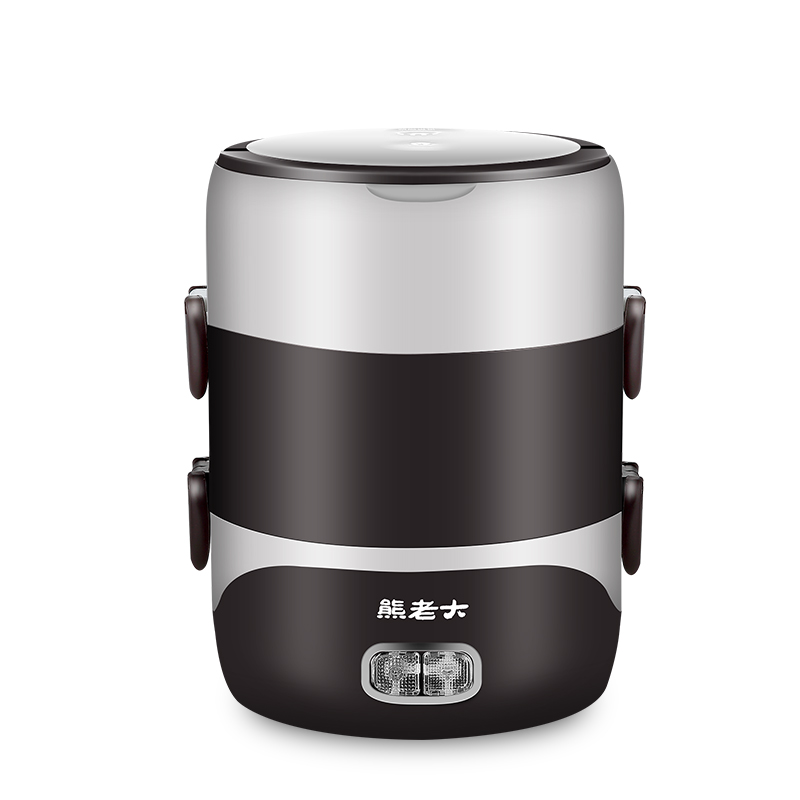 熊老大三层电热饭盒可插电加热保温热饭带饭神器蒸饭盒迷你电饭煲