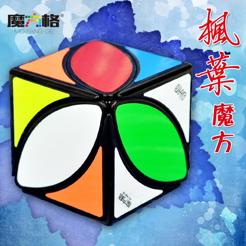 奇艺枫叶三四叶草星星铜钱魔方 专业比赛异形斜转异型叶子魔方