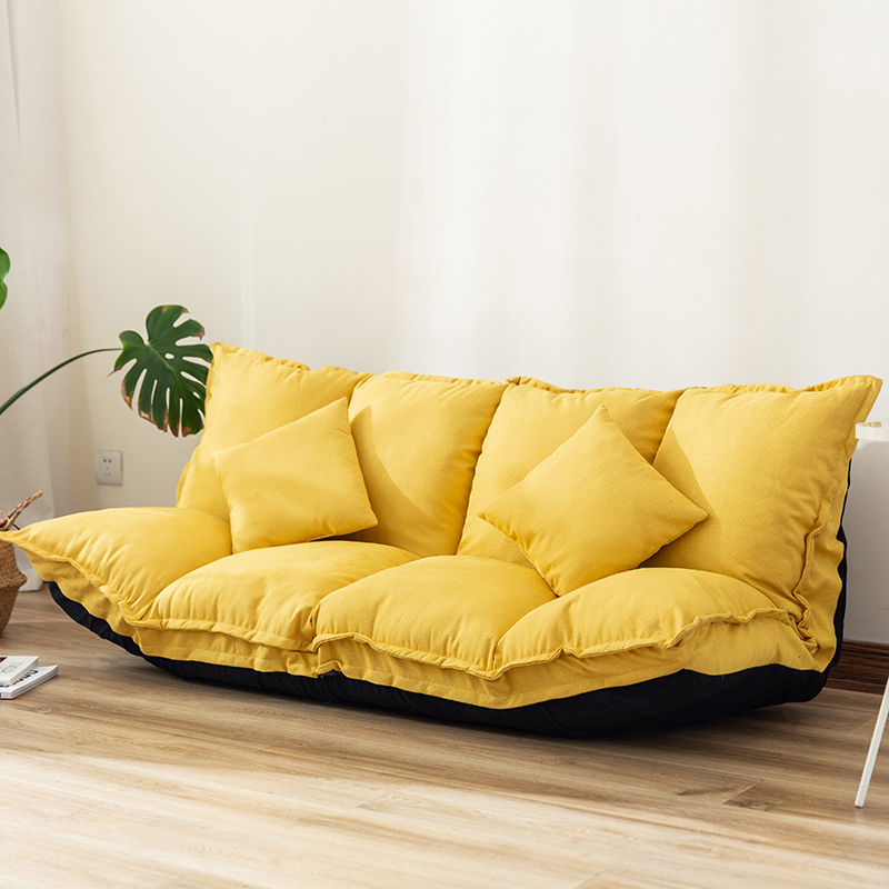 宜家北欧小户型懒人沙发卧室榻榻米可折叠休闲布艺现代简约小沙发