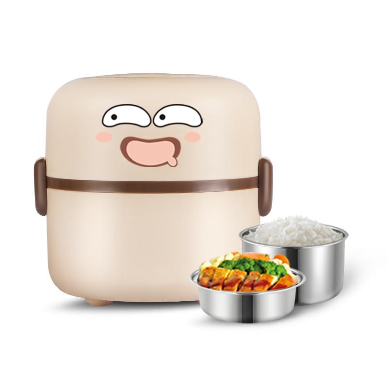 十度良品雙層電熱飯盒SD~901迷你加熱飯盒不鏽鋼插電保溫飯盒