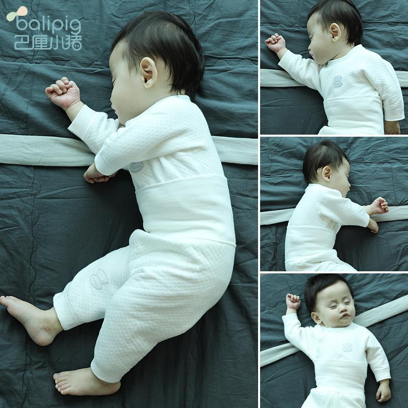 婴儿保暖内衣套装加厚新生儿童秋装宝宝3夹棉1岁0纯棉2冬季睡衣服