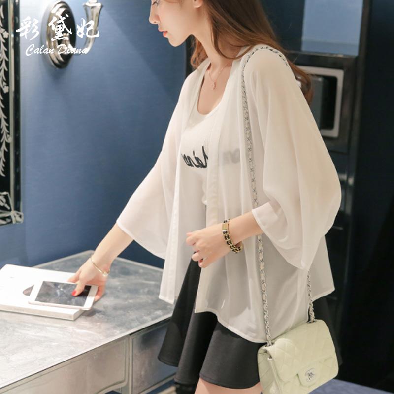 2019春夏新款季女装韩版女士雪纺空调衫女薄防晒衣女长袖上衣开衫