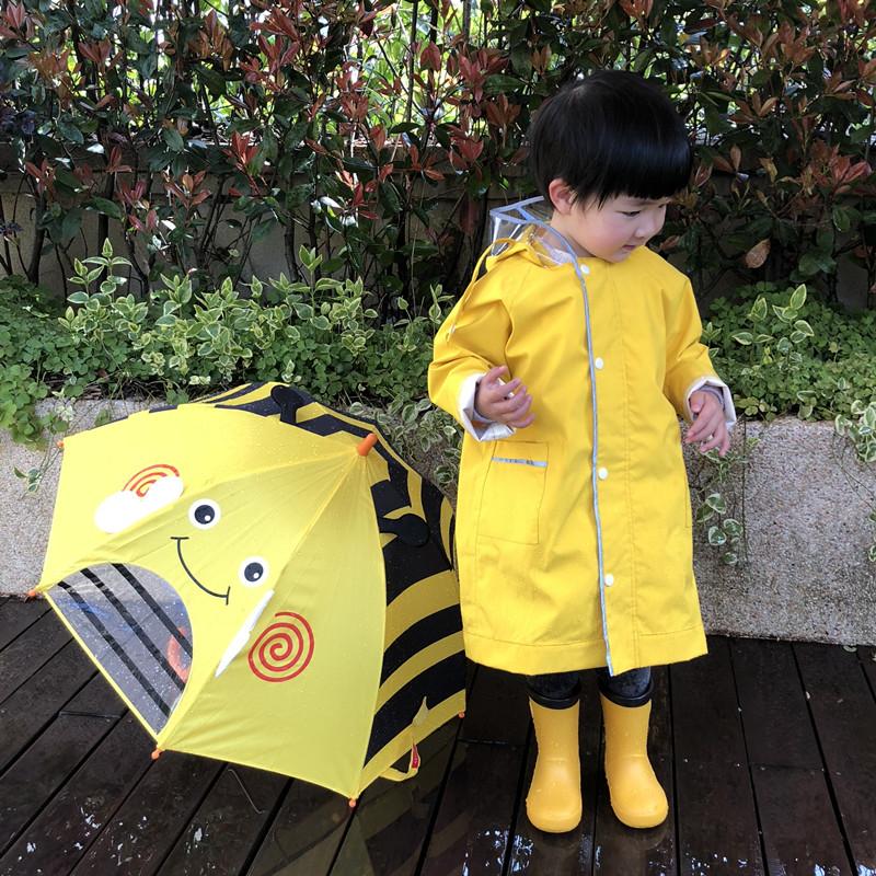 儿童雨衣宝宝幼儿园小孩子小童小学生男童女童雨披雨具书包位套装