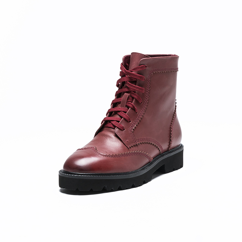 [live broadcast] mqj229 new womens net red street cool round head lace up boots in autumn and winter 2020