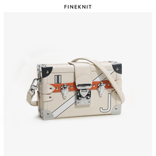 FINEKNIT Je Summer Bag Box Bag Square Bag Fashion Women's Bag One Shoulder Slant Bag