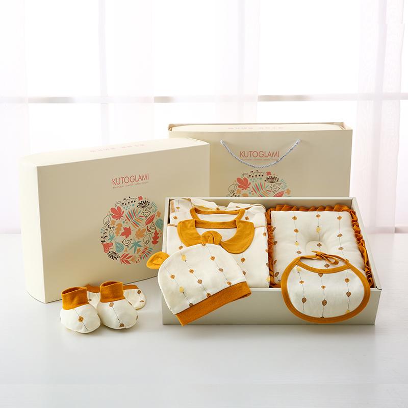婴儿衣服纯棉初生套装新生儿礼盒秋冬男百岁周岁女宝宝用品大礼包