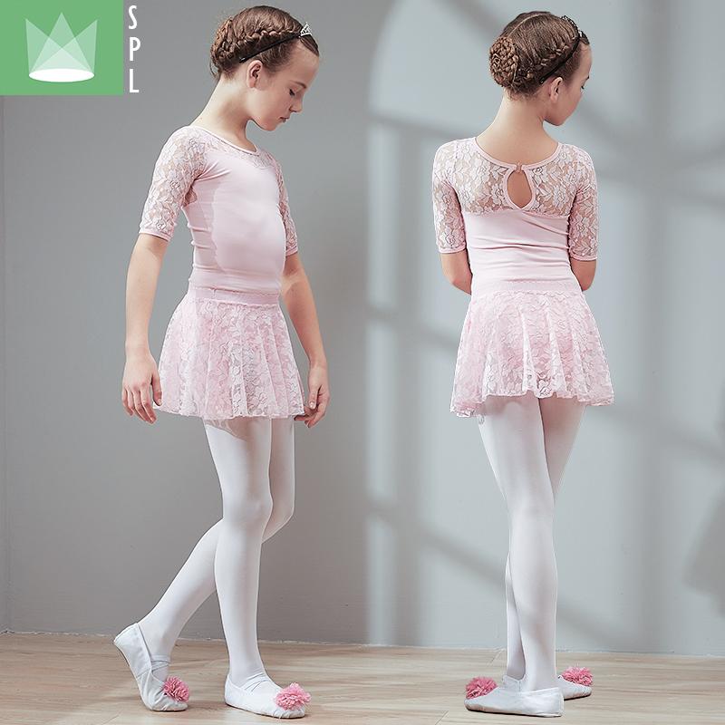 尚品琳夏季新儿童舞蹈服装短袖女童跳舞练功服幼儿芭蕾舞蹈裙考级