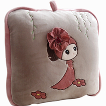 Personality Cute Pillow Quilt Dual-use cushion air conditioning by folding car by Pillow Office lunch break two in Oneness