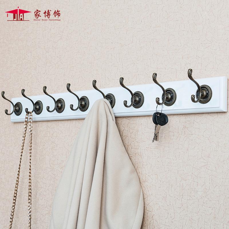 歐式 玄關衣帽架 壁掛客廳牆上掛鉤衣架實木掛衣鉤牆壁掛衣架