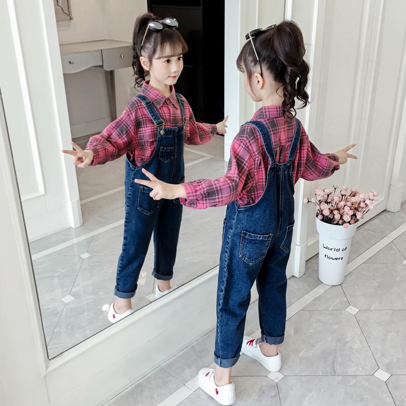 4儿童5女童秋装套装2021 6背带裤