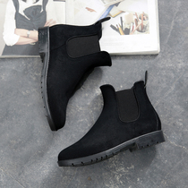 Rain Shepherd waterproof Chelsea fashion rain shoes female shoes korean boots adult warm water shoes short tube &; Boots rubber Shoes