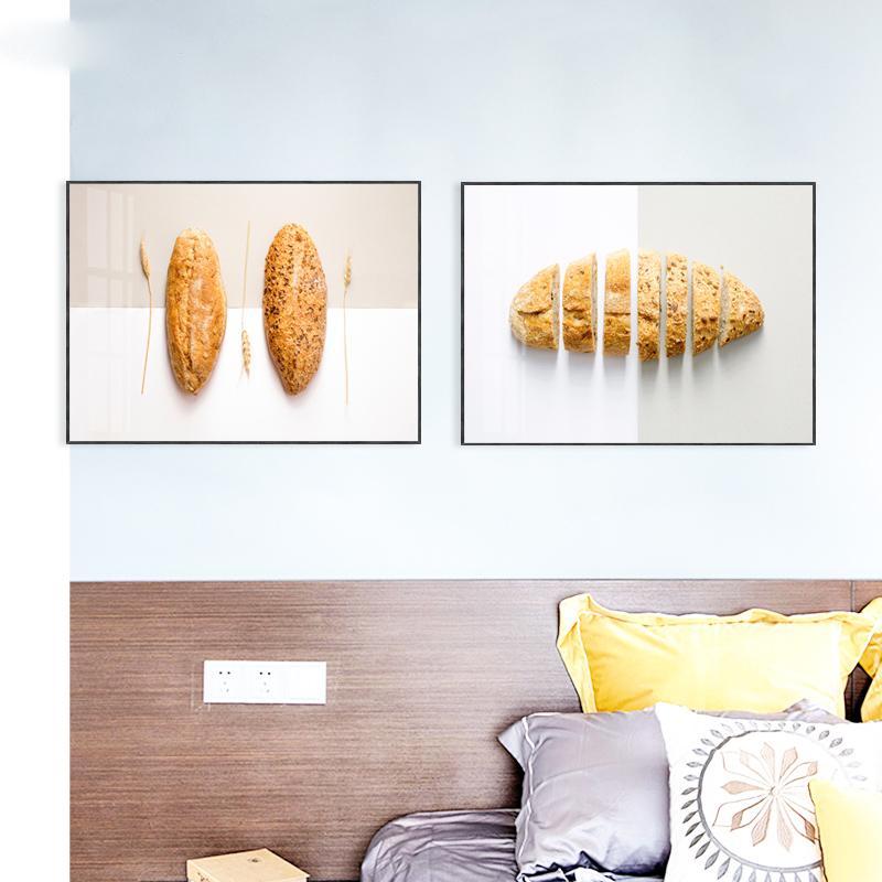 面包北欧西餐厅装饰画蛋糕房甜品店烘焙坊挂画现代简约餐厅壁画