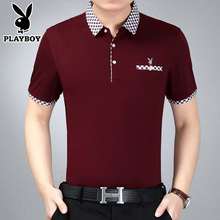 Playboy Summer Short Sleeve T-shirt for Middle-aged Men