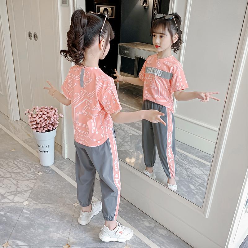 女童夏装套装2020新款儿童夏季运动大童装女孩韩版洋气时髦网红潮图片