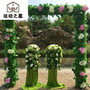 婚庆拱门新花门森系草坪婚礼方形花门开业庆典活动布置装饰花拱门