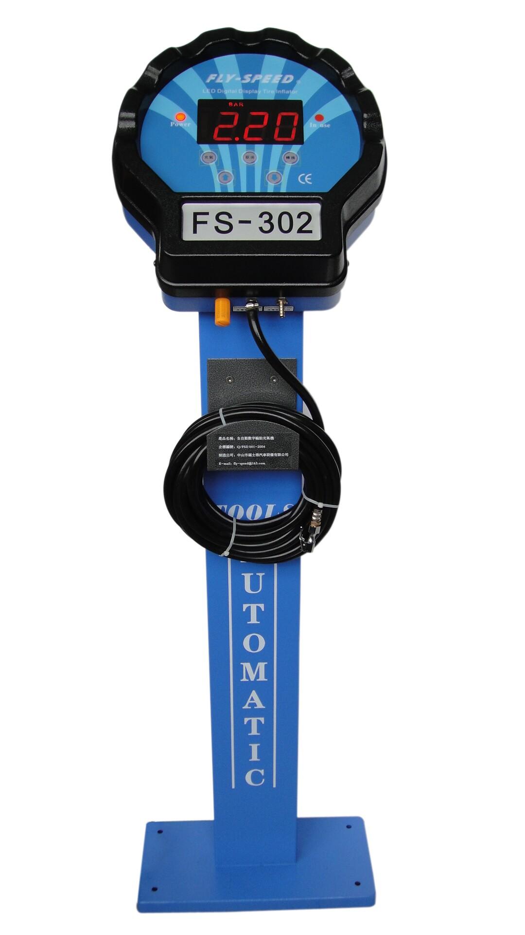 Скорость ветра марка автомобиля FS-302 шина полностью автоматическая Вертикальный инфлятор для инфлятора