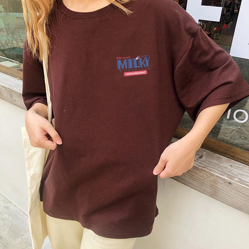 (用69.1元券)胖mm2019夏装新款韩版纯棉短袖t恤