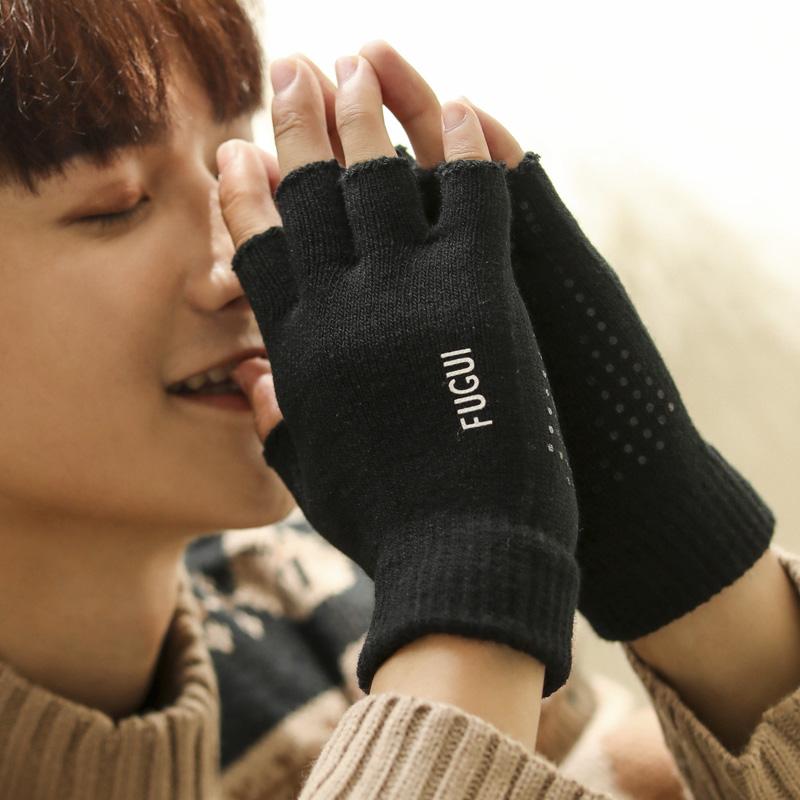 Мужские перчатки без пальцев Артикул 584022628119