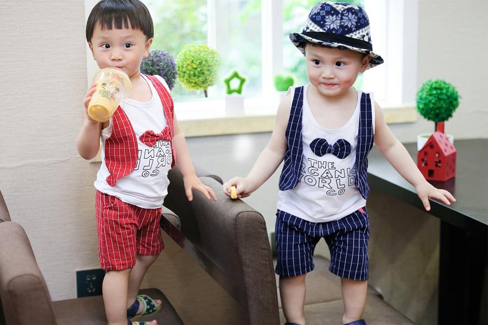 2016 寶寶夏裝 男女兒童套裝 嬰幼兒衣服 兒童馬甲背心套裝