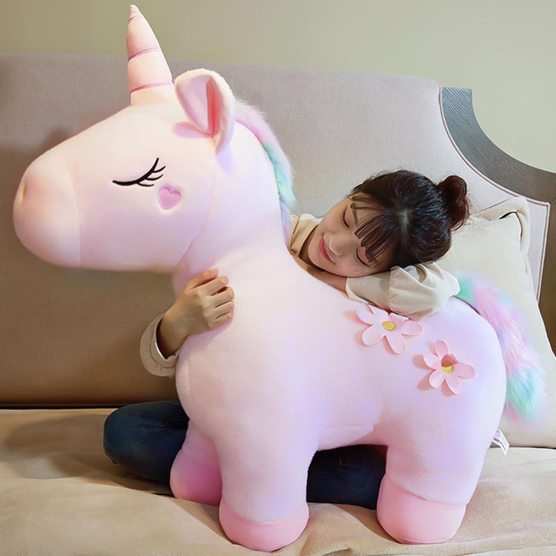 网红独角兽公仔毛绒玩具抱枕可爱布娃娃少女心玩偶床上送女孩礼物限10000张券