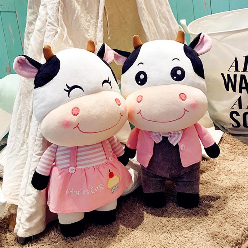 情侣奶牛毛绒玩具女生睡觉抱玩偶公仔女孩压床娃娃一对 结婚新款